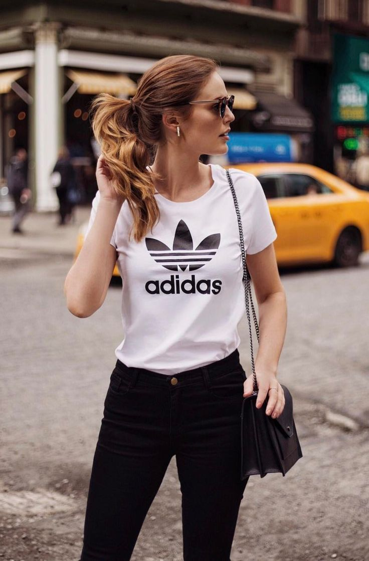 Cute Adidas Outfits For Women   White