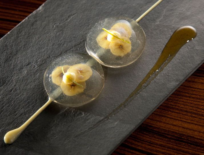''Food Is All About Transformation'' Alex Atala | Yatzer Banana, lime and priprioca caramel ravioli. Photo © Alex Atala, D.O.M.