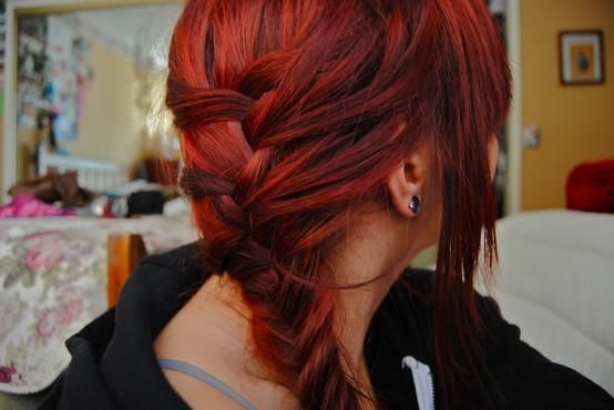 Red: Hair Beautiful, French Braids, Hair Colors, Red Hair, Shades Of Red, Popular Hairstyles, Girls Hairstyles, Hair Style, Redhair