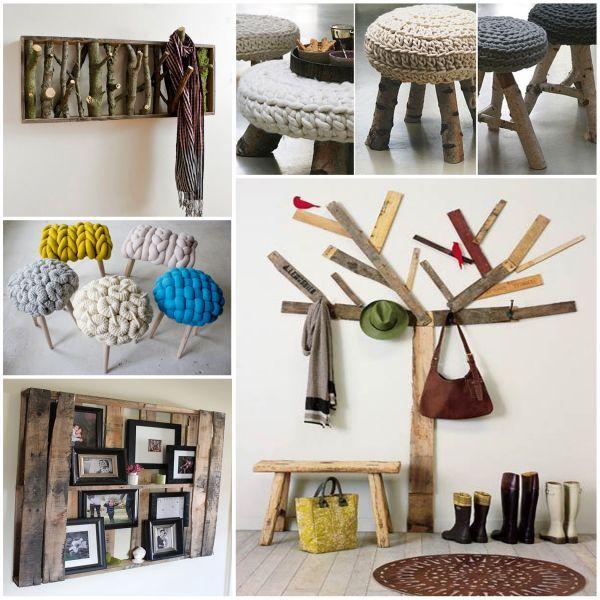Ideas de reciclado y decoración con materiales naturales