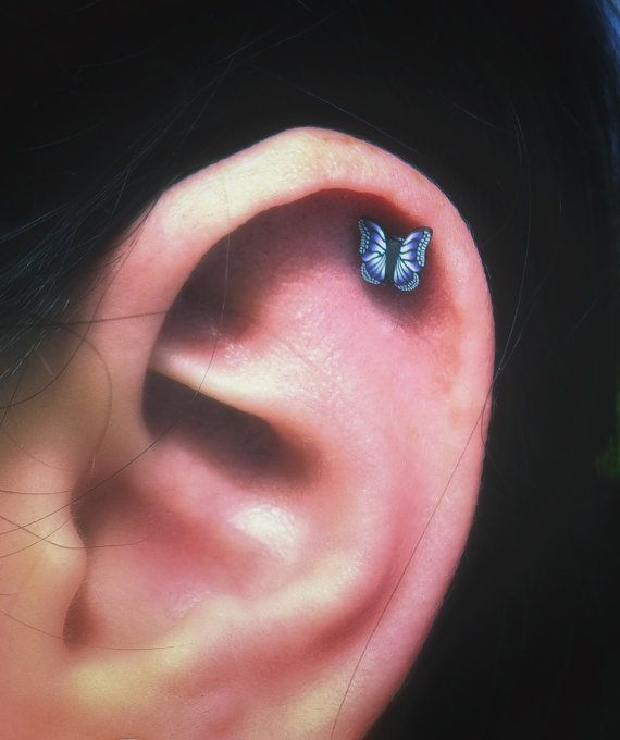 Cute Cartilage Piercing | ... Steel Stud Earring. Perfect for Helix and Cartilage Piercings