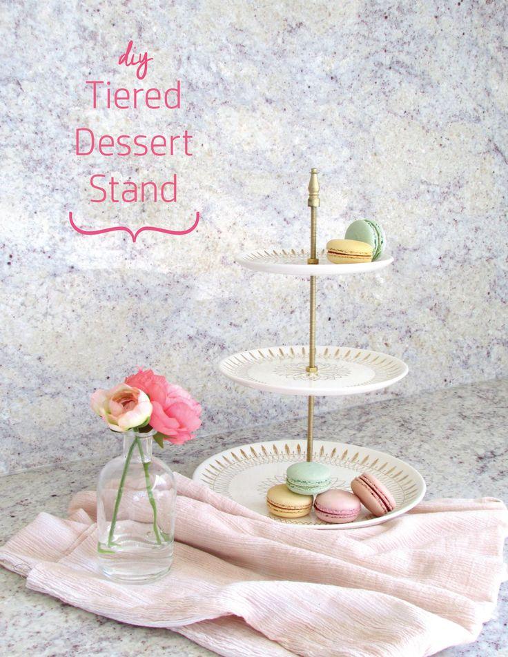 Diy: un présentoir dessert à trois niveaux