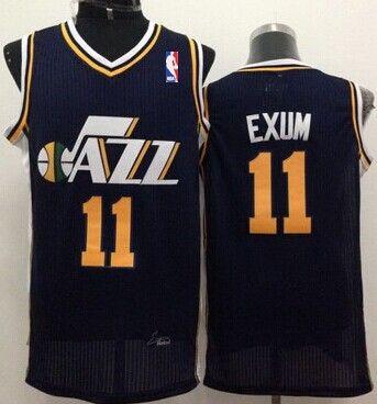 Utah Jazz #11 Dante Exum Navy Blue Swingman Jersey