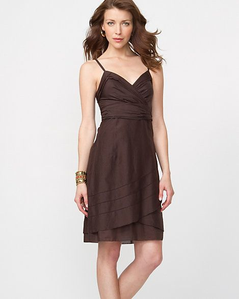 LE CHÂTEAU: Cotton Silk Flowy Tank Dress