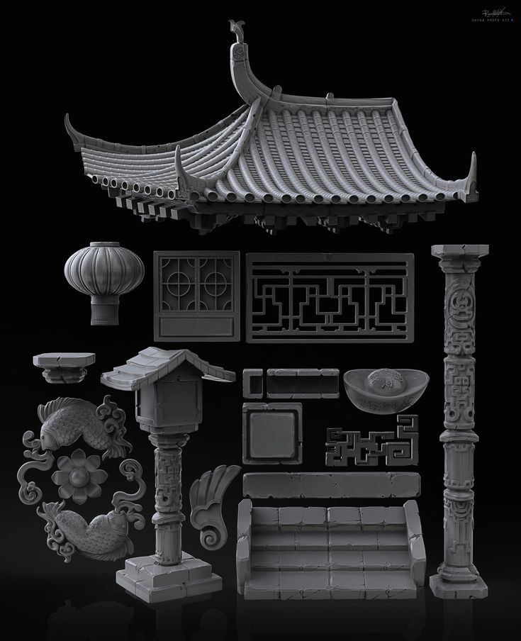 http://www.zbrushcentral.com/showthread.php?196705-Chinese-pack