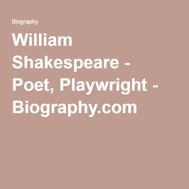 This source is an article from the famous website Biography. It is about Shakespeare´s life, his works, his family, etc. This source is valuable because it is from the website Biography.