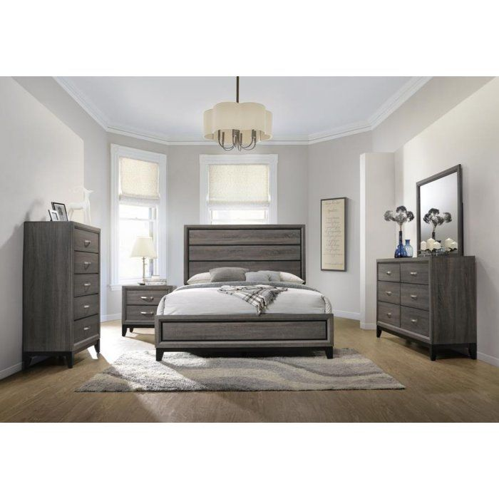 Balmer Standard Configurable Bedroom Set Grey Bedroom Furniture