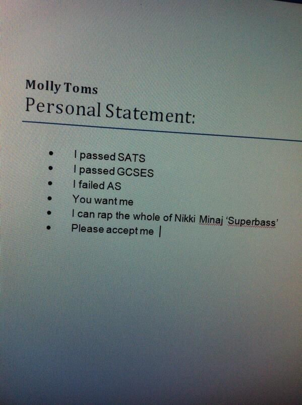 personal statement hook examples