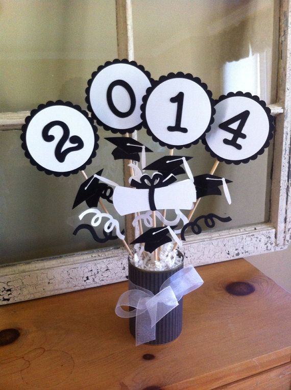 2015 Graduation Center Piece Decor Gift by PaperGalore on Etsy