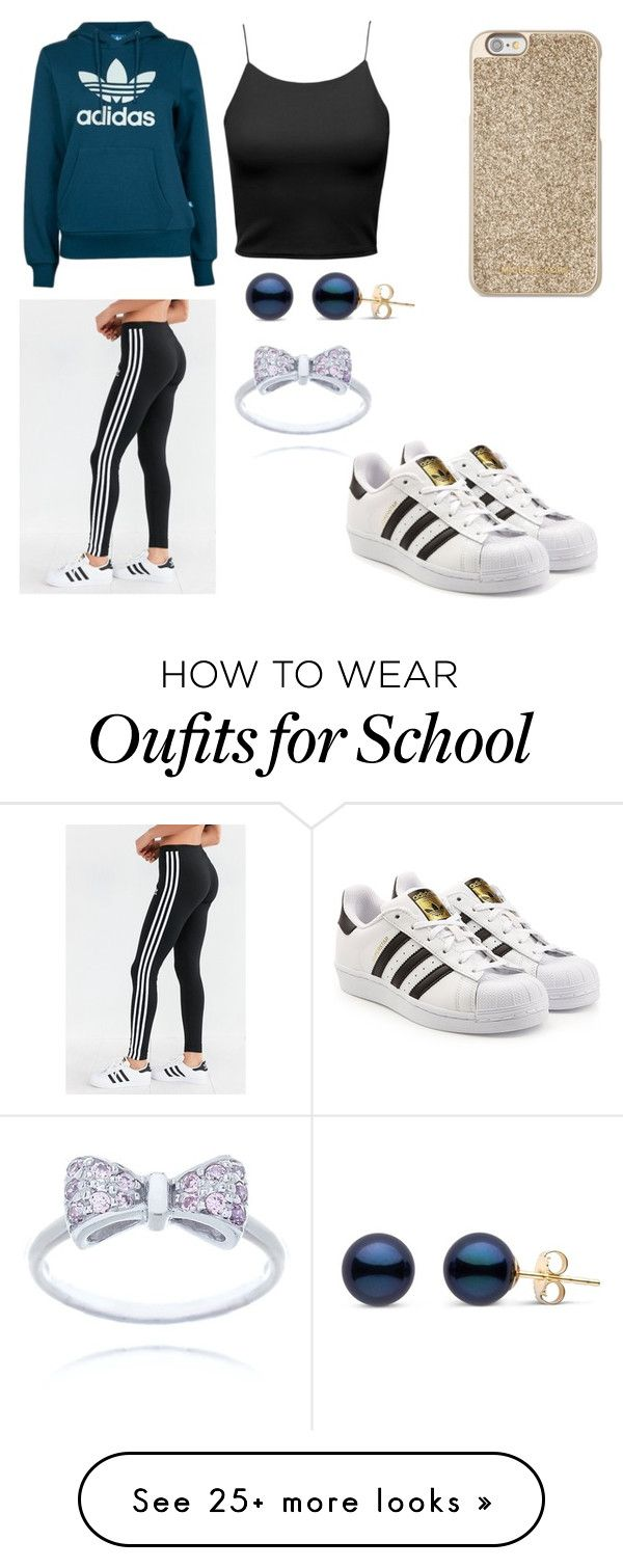 """""""WINTER AND HIGH SCHOOL STYLE"""" by mgarcia-iii on Polyvore featuring Michael Kors, adidas and adidas Originals"""