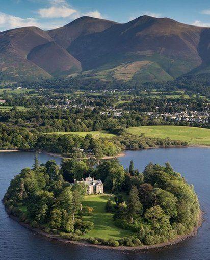 Derwent Island House, The Lake District, Cumbria, England.