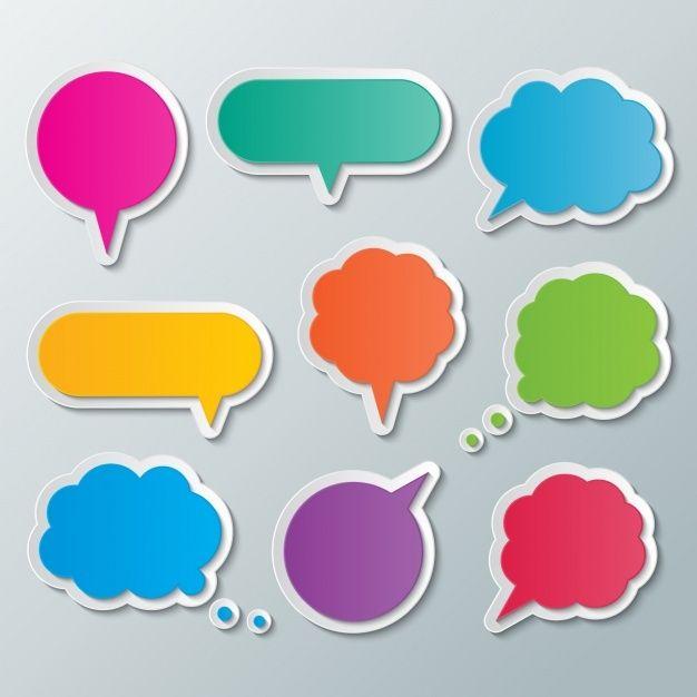 Burbujas De Texto De Colores Vector Grat Free Vector Freepik Freevector Banner Ribbon Etiqueta Abstracto Globos Amarillos Globos De Texto Burbujas