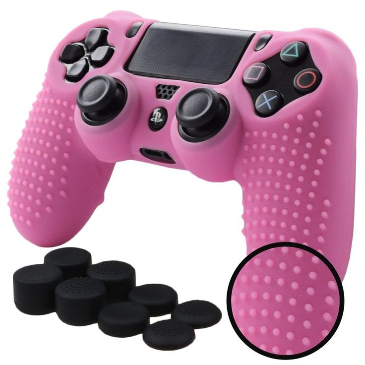 Silicone Cover PS4 Case Skin Controller Playstation 4 Slim Pro Anti Slip Pink #Pandaren