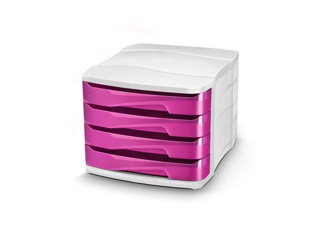 CEP:s Gloss-sortiment är en serie roliga kontorstillbehör utformad för att tillsätta en färgklick på skrivbordet. Denna skrivbordsboxmodul är tillverkad av återvinningsbar, stöttålig polystyren och är en snygg och praktisk lösning för skrivbordsförvaring och -organisation.