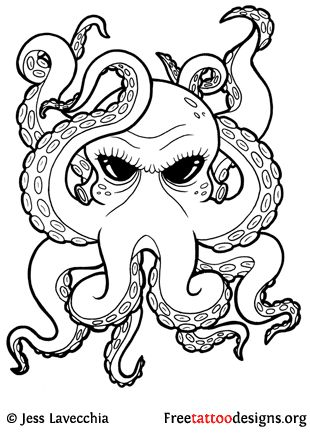 Octopus Tattoo, aka squid tattoo is one of popular aquatic animals tattoos for…