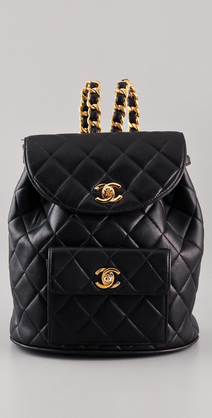 vintage chanel CC backpack
