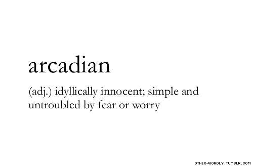 Arcadian: pronunciation |  ar-'kA-dE-an