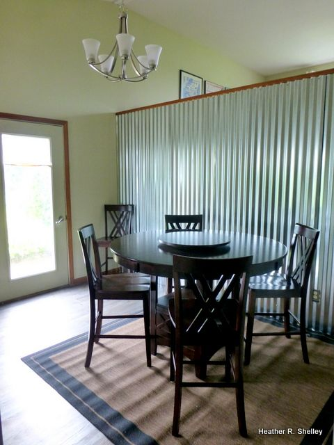 127 best corrugated metal decorating ideas images on - Using corrugated metal for interior walls ...