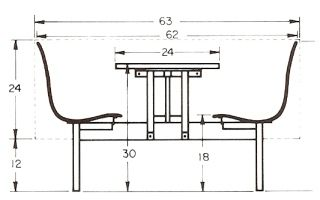 """I am pinning this for reference. We can move the orientation of your nook. The short wall is 53"""" and the long wall is 79"""". This mean you have plenty of space to back the bench up to the short wall. Add a comfortable table and pair it with two chairs. Existing metal or existing L.R. chairs."""