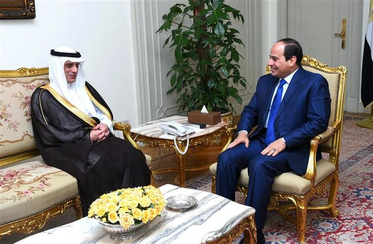 President Al-Sisi met with Saudi Foreign Minister Adel Al-Jubeir in the Federal Palace