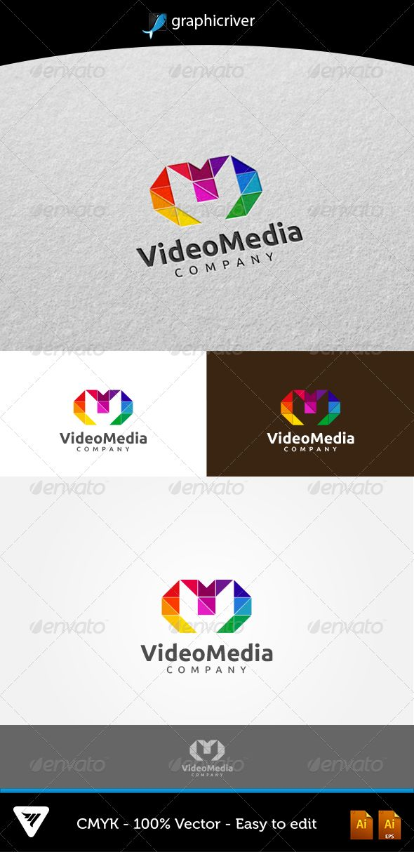 VideoMedia Logo #GraphicRiver Item Details: • Color CMYK • Fully editable AI and EPS files • Easy editable color and text • Free Font Ubuntu • Three Color Variations For additional information please contact me The font can be Downloaded at ubuntu for free: font.ubuntu Created: 16August13 GraphicsFilesIncluded: VectorEPS #AIIllustrator Layered: Yes MinimumAdobeCSVersion: CS Resolution: Resizable Tags: agency #app #brand #business #color #colorful #colors #crystal #design #diamond #facet…