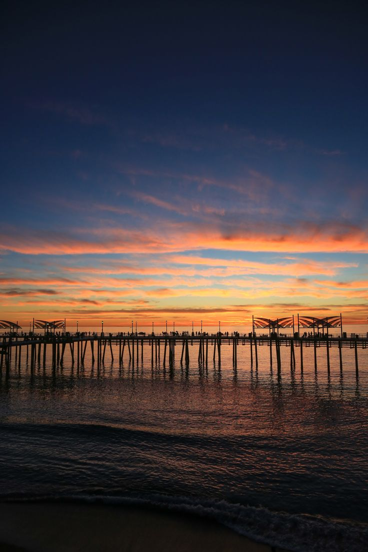 Sunset across the Redondo Beach Pier VisitRedondo