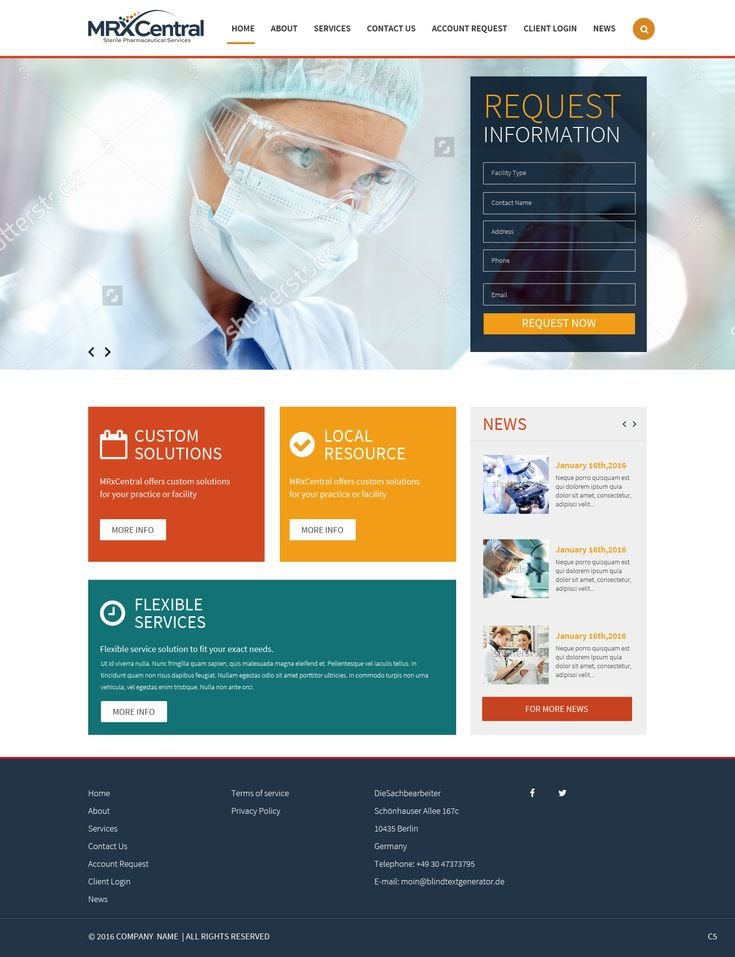 Pharmaceutical Website Design