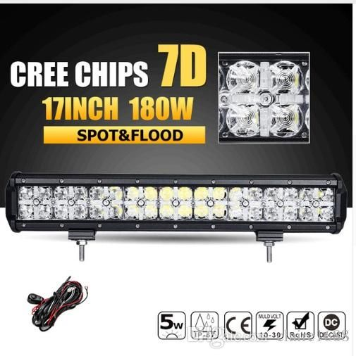 180W 17INCH LED Offroad Light Bar CREE Chips Combo Beam Led Work Light Bar Driving Lamp for Truck SUV ATV 4x4 4WD 12v 24v - $183