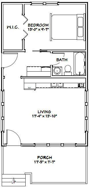 18 30 Tiny House 18x30h1 540 Sq Ft Excellent Floor