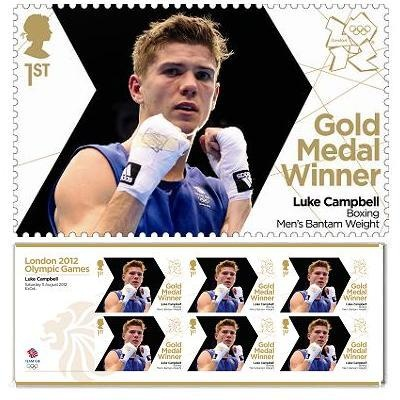 Gold Medal Winner Miniature stamp - Luke Campbell, Boxing, Men's Bantam Weight