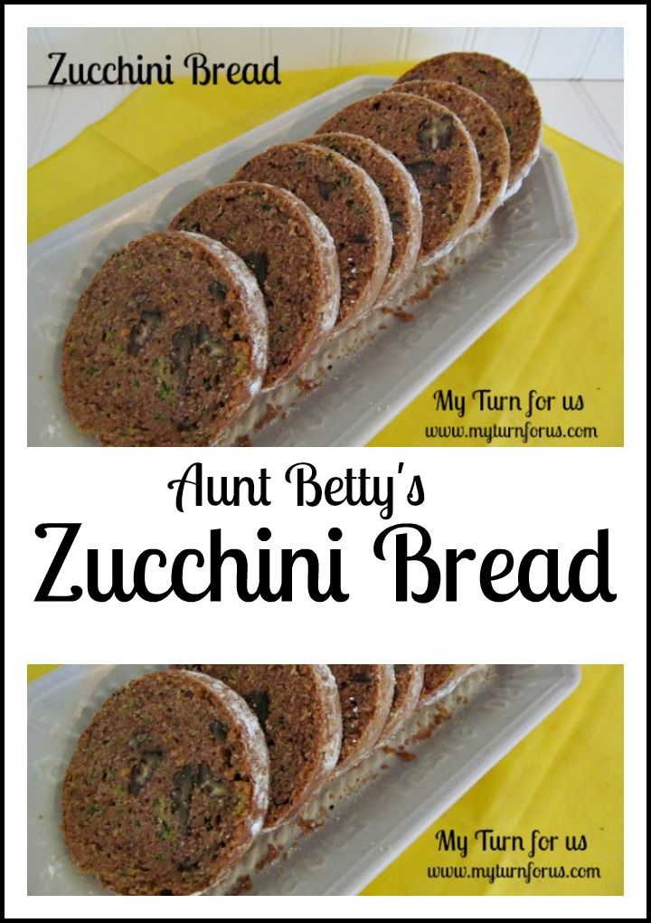 Aunt Betty's Zucchini Bread in a cool shape…