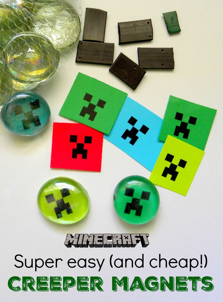 Super Easy (& cheap!) Minecraft Magnets -- great party favor or craft
