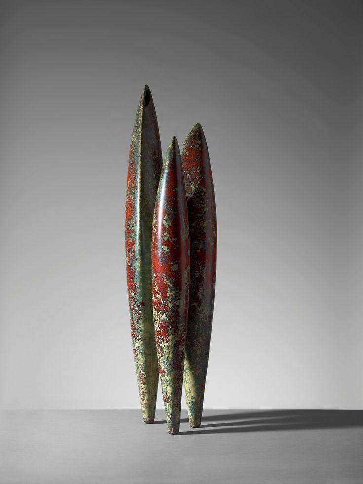 A Hans Hedberg faience sculpture, 'Cypresses', Biot, France. Height 77 cm.. - Modern Autumn Sale, Stockholm 575 – Bukowskis