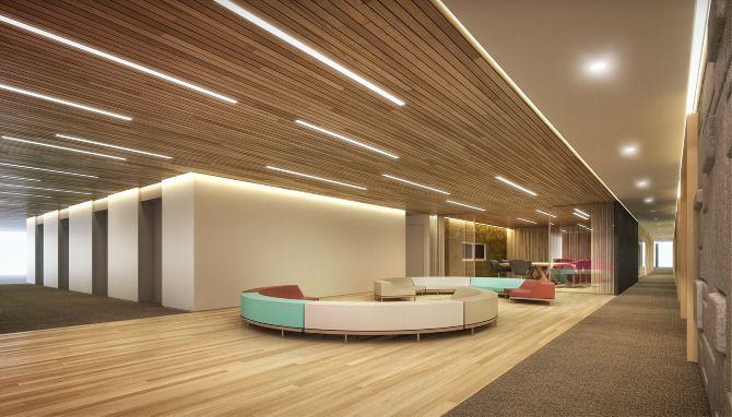 Interior of Office Building Lobby