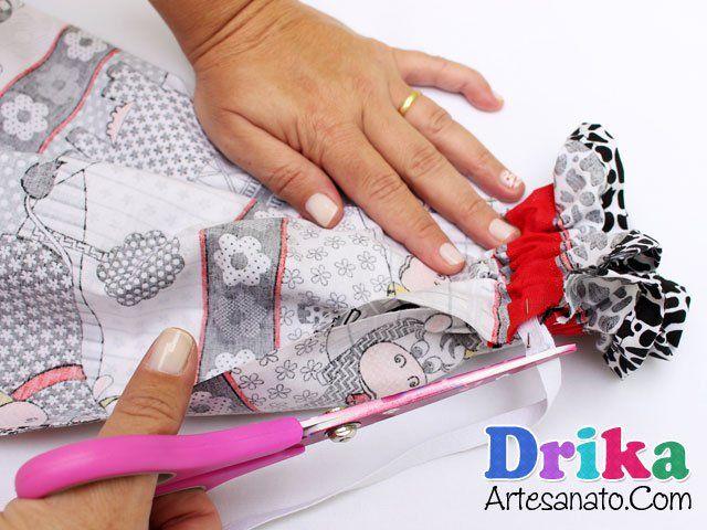 Como fazer um puxa saco em tecido