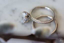 Quilted Pave Oval Diamond Center Engagement Ring by A.JAFFE (Style ME1842Q). A beautiful oval cut diamond engagement ring with an alluring quilted interior and hand set pave diamonds running along the shank for an extra sparkle.