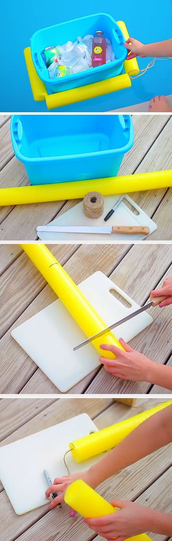 Pool Cooler   DIY Pool Party Ideas for Teens