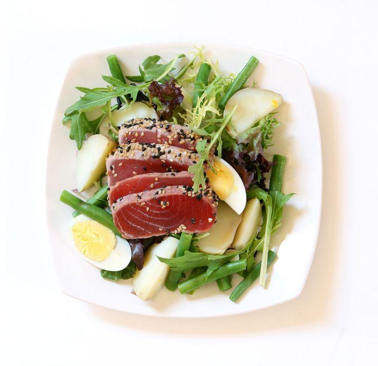 Superb Seared Sesame Fresh Ahi Tuna Salad Nicoise