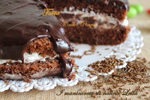 Torta Kinder Pinguì I manicaretti di nonna Lella http://blog.giallozafferano.it/graziagiannuzzi/torta-kinder-pingui/
