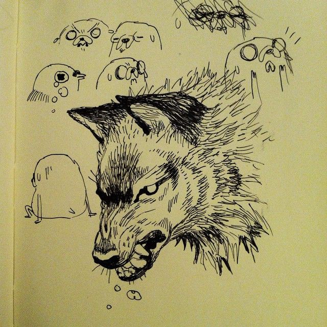 wolf head by emily partridge