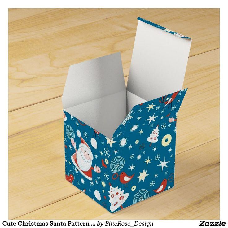 Cute Christmas Santa Pattern Cube Favor Box