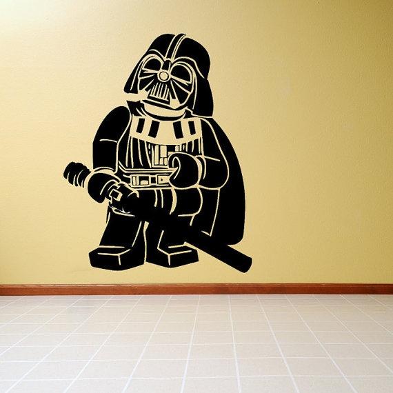 Lego Star Wars Darth Vader Vinyl Wall Decal Sticker by theccinc, $19.99.  Star Wars or LEGO Star Wars? ~aftr