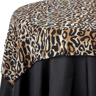 Leopard Sheer Print Table Linen Rentals