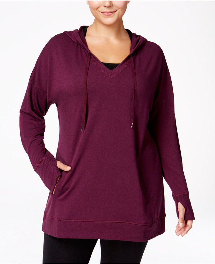 Ideology Plus Size Hoodie Tunic--Only at Macy's ** You can get additional details at the image link.