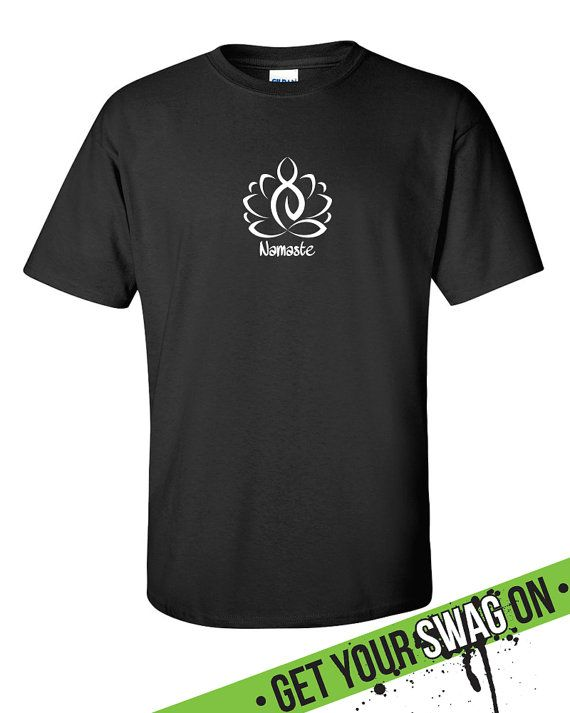 Lotus Namaste Yoga T-Shirt Womens Mens Shirt by SwagArtDesigns