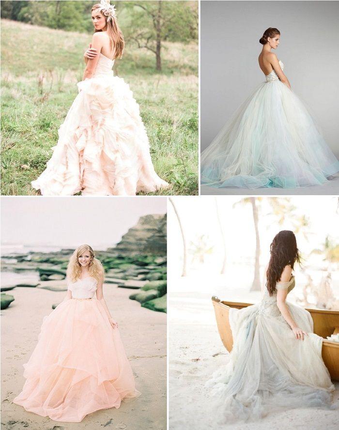 Robe de Mariée : La couleur de nouveau tendance ?