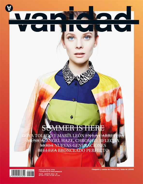 Vanidad julio/agosto: Summer is here #portada #cover #vanidadmagazine