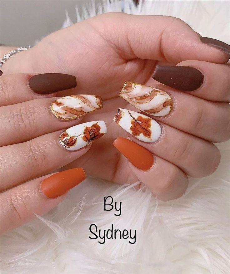 Brauchen Sie im Herbst Inspiration zum Nageldesign für Ihre Nägel? Wir haben gesucht nach …   – Nail Art