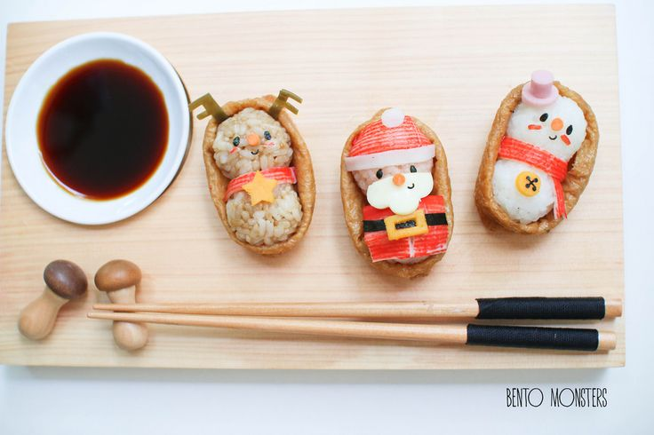 Christmas Sushi and Bread