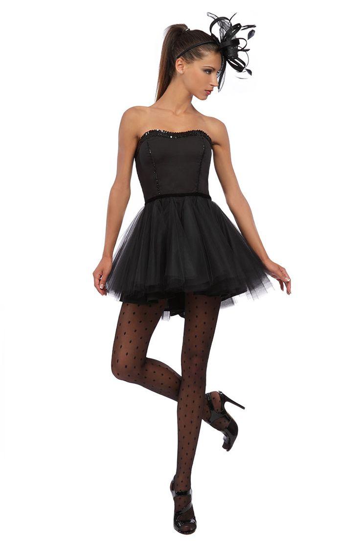 petite robe noire bustier tutu noir pour soir e pi ce unique made in france black dress. Black Bedroom Furniture Sets. Home Design Ideas